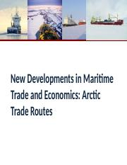 09 New Developments-Arctic Trade Routes