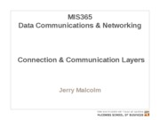 MIS365 4 - Connection and Communications Protocol Layers
