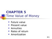 Chapter 05_TimeValueMoney