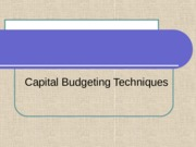 capital budgeting notes(spring 2012)