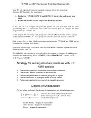 Fall 16 CNMR and DEPT Spectra Instructions  Worksheet cl