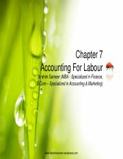 Chapter 7 Accounting For Labour