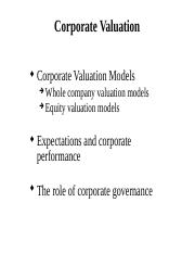 Lecture 4 - Corporate valuation.pptx