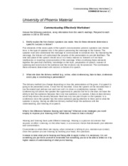 communicating effectively worksheet comm 218 Effective communication handout 8 it can be hard to communicate effectively and resolve problems taking a break from intense feelings can provide time for peo.