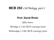 Handout 1,2 - Cell Motility