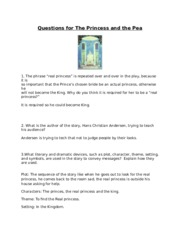 Questions for The Princess and the Pea.doc