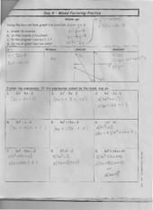 Mixed Factoring Practice Notes