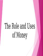 Chapter 2 Role and uses of money