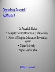 Handouts Operational Research Chap 1