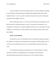 Unit 6 Assignment 3 – Communicating in Close Relationships Ethics Statement