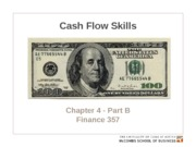 Chapter 4 - Part B. Cash flow skills
