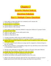 Chapter 3 - Security-Market Indexes - Questions Solutions