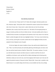 Greasy Lake Essay