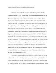 The Group Areas Act Essay