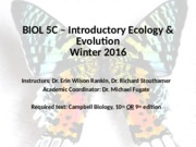 1-BIOL 5C – Introductory Ecology & Evolution