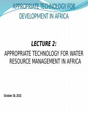 Lecture 2 Water Resource Management