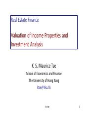 Valuation of Income Properties and Investment Analysis.pdf