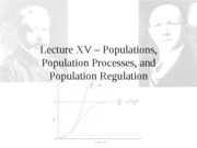 Lecture XV - Population Processes_1