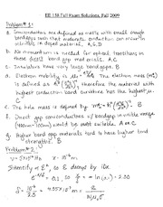 EE138 Final Exam Solutions F09