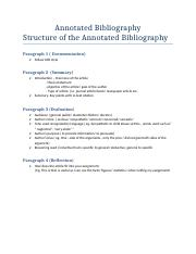 Structure used  answer  annontated biblio question