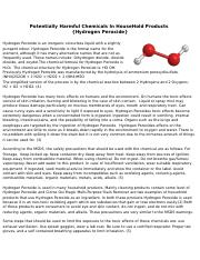 Potentially Harmful Chemicals In HouseHold Products.docx