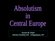Absolutism-Central Europe