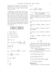 TTh Exam One-solutions