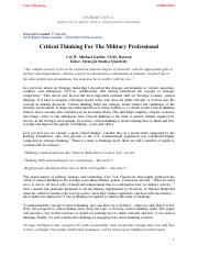 Week 1 Critical Thinking For The Military Professional.pdf