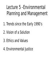 Lecture 5 - Environmental Planning and Management - A2L
