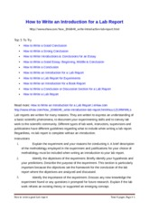 How to Write an introduction & Discussion & Conclusion in a Lab Report