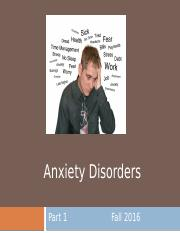 10. Anxiety Disorders Part 1 - for students