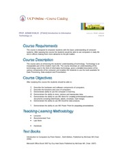 info tech outline