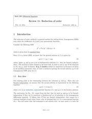 11 - Reduction of Order