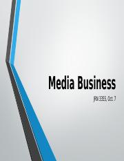 3355 Fall 2016 Media Business Days One and Two