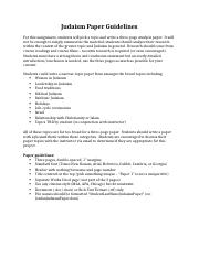 Judaism Paper Guidelines - Online.docx