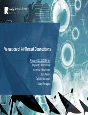 Valuation Of Airthread Connections With Solve Excel Pdf Valuation Of Airthread Connections Prepared 11 12 2016 By Delphine Finders Binje Hermine Course Hero