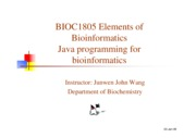 T1 Java programming for bioinformatics