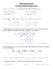 EEE3501 _Signals&Systems_StudyingQuestions_FinalExam