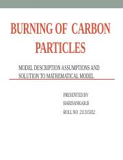 211315032 burning of carbon particles