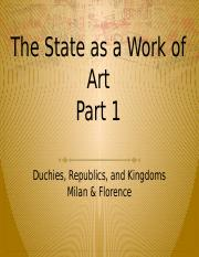 Week 2.1 The state as a work of art