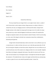 outline outline animal farm the lorax and the political cartoon  2 pages animal farm mini essay