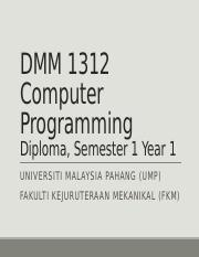 dmm1312 lecture week 9 (assignment test)