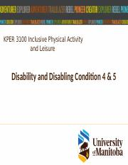 Feb 4 Disability and Disabling Conditions 4 & 5.pptx