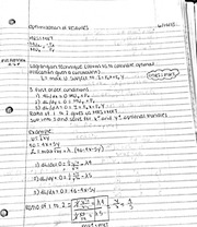 Optimization of resources notes
