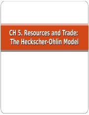 Chapter 5 Resources and Trade_The Heckscher-Ohlin Model_2016