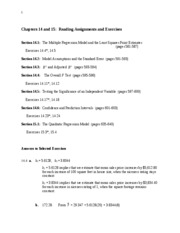 DSC 203 Chapters 14-15 Assignments