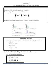 Section 5.1 The Natural Logarithmic Function Differentiation.pdf