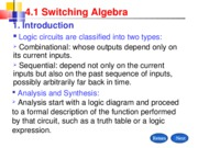 4.1 Swithcing Algebra