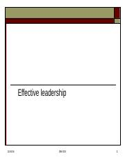 Effective leadership-1