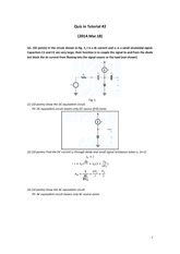 Tutorial quiz 2 Solution